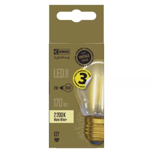 EMOS LED IZZÓ VINTAGE MINI GLOBE 2W (18W) 170LM E27 WW+ (Z74306)