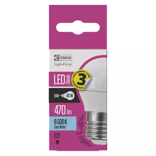 EMOS LED IZZÓ CLASSIC MINI GL 6W (40W) 470LM E27 CW