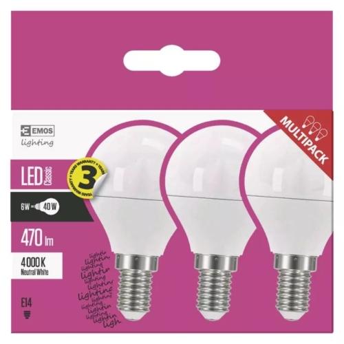 EMOS LED IZZÓ CLASSIC MINI GL 6W E14 NW 3DB