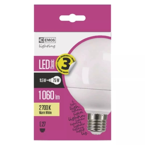 EMOS LED IZZÓ CLASSIC GLOBE 11,5W (75W) 1060LM E27 WW (ZQ2150)