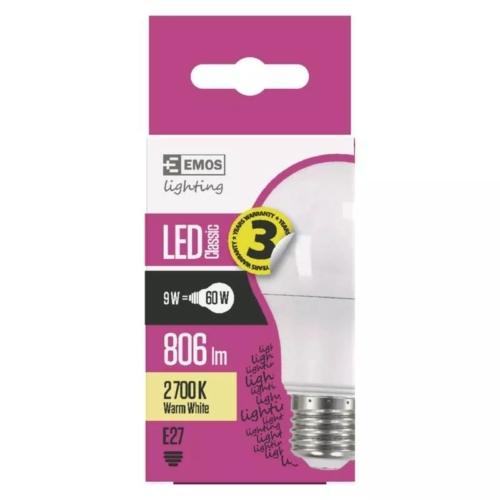EMOS LED IZZÓ CLASSIC A60 9W (60W) 806LM E27 WW (ZQ5140)