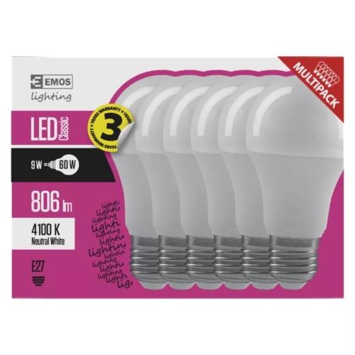 EMOS LED IZZÓ CLASSIC A60 9W (60W) 806LM E27 NW 6DB (ZQ5141.6)