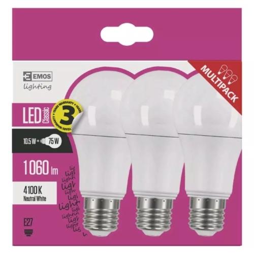 EMOS LED IZZÓ CLASSIC A60 10.5W (75W) 1060LM E27 NW 3DB
