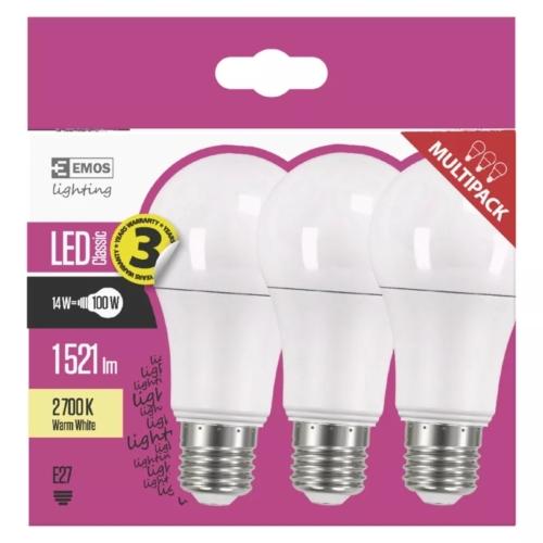 EMOS LED IZZÓ CLASSIC A60 14W (100W) 1521LM E27 WW 3DB