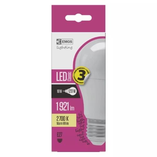 EMOS LED IZZÓ CLASSIC A67 18W (120W) 1900LM E27 WW