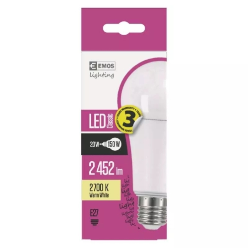 EMOS LED IZZÓ CLASSIC A67 20W (150W) 2452LM E27 WW (ZQ5180)
