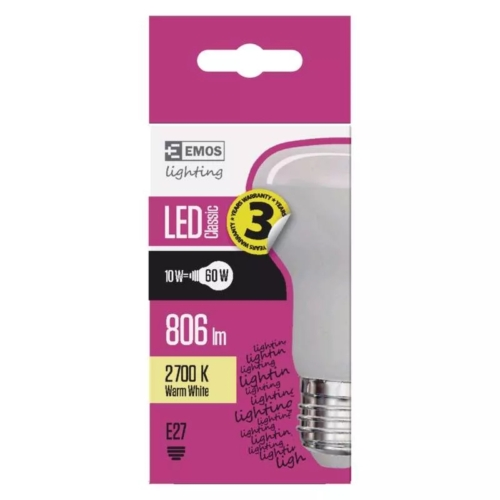 EMOS LED IZZÓ CLASSIC R63 10W (60W) 806LM E27 WW