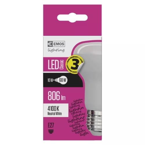 EMOS LED IZZÓ CLASSIC R63 10W (60W) 806LM E27 NW (ZQ7141)