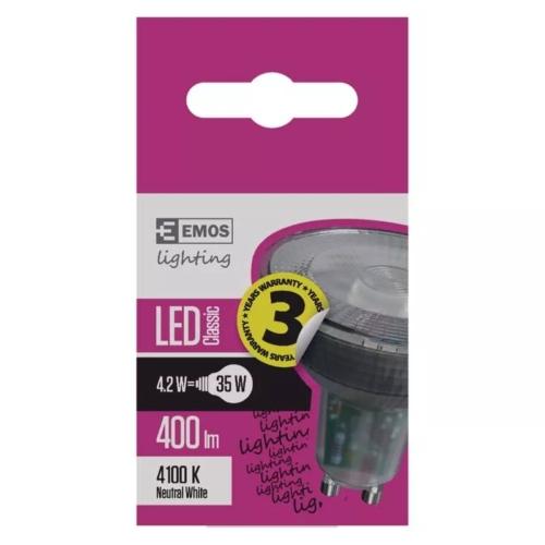 EMOS LED IZZÓ CLASSIC MR16 4,2W (35W) 400LM GU10 NW
