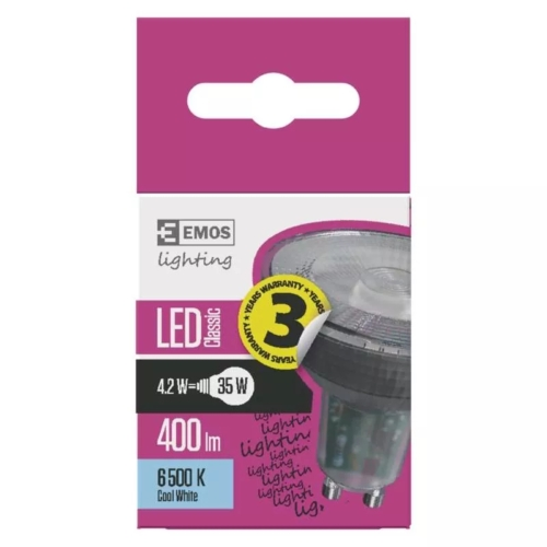 EMOS LED IZZÓ CLASSIC MR16 4,2W (35W) 400LM GU10 CW