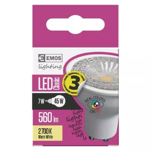 EMOS LED IZZÓ CLASSIC MR16 7W (45W) 560LM GU10 WW Ra96
