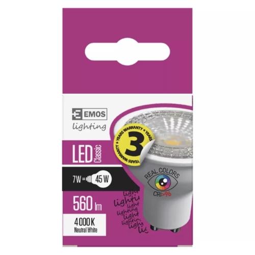 EMOS LED IZZÓ CLASSIC MR16 7W (45W) 560LM GU10 NW Ra96
