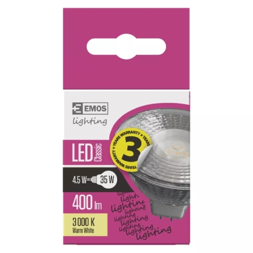 EMOS LED IZZÓ CLASSIC MR16 4,5W (35W) 400LM GU5.3 WW