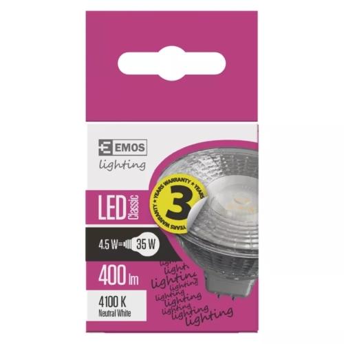 EMOS LED IZZÓ CLASSIC MR16 4,5W (35W) 400LM GU5.3 NW