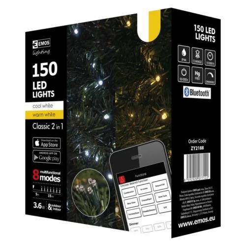 EMOS SMART karácsonyi fényfüzér 15 m, 150 LED, IP44 (iOS, ANDROID, Bluetooth)