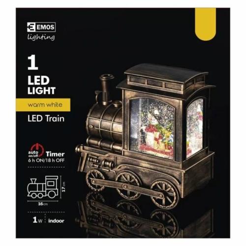EMOS karácsonyi dekorációs világítás vonat, IP20, meleg fehér